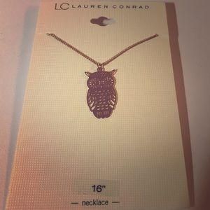LC Lauren Conrad Gold Tone Owl Pendant Necklace